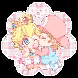 .~Smoochie for my cutie~. by PeachyPinkPrincess