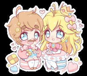 .~Cookies and tea~. by PeachyPinkPrincess