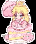 +. Peachy cake +.
