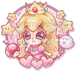 .+* Commission: Princess Peach *+.