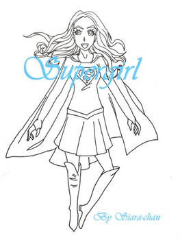 Supergirl Coloring Page Sample