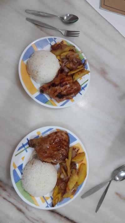 My BBQ chicken rice XD by Deviljackies