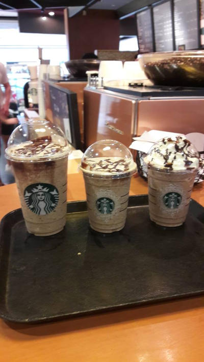 3 Starbucks Cool drinks.... sweet...... :3 by Deviljackies