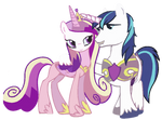 Princess Cadance and Shining Armor by x-Princess-Cadance-x