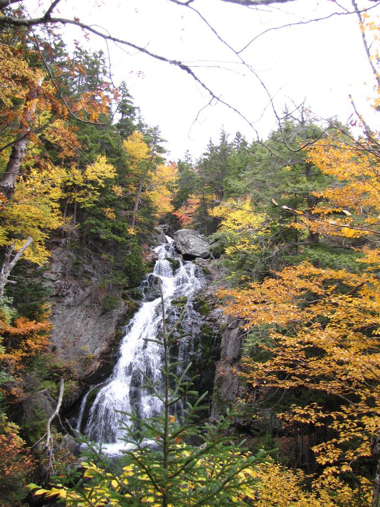 Autumn Waterfall by Lissa-loo