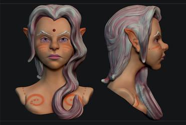 Elf - Quick Sculpt by raffael