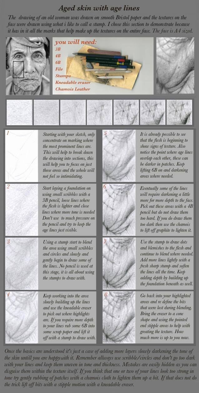 Pencil tutorial.. Aged Skin by markstewart