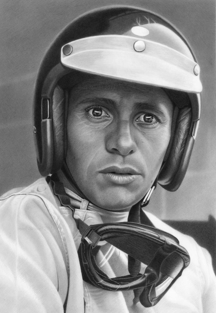Jim Clark in graphite by markstewart