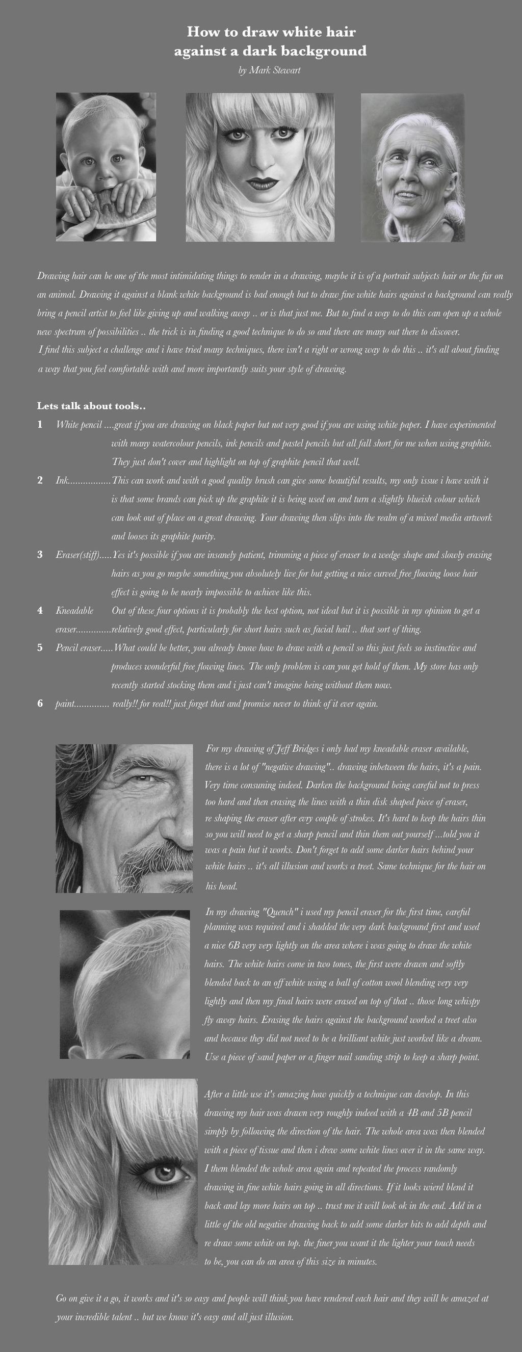 white hair tips by markstewart