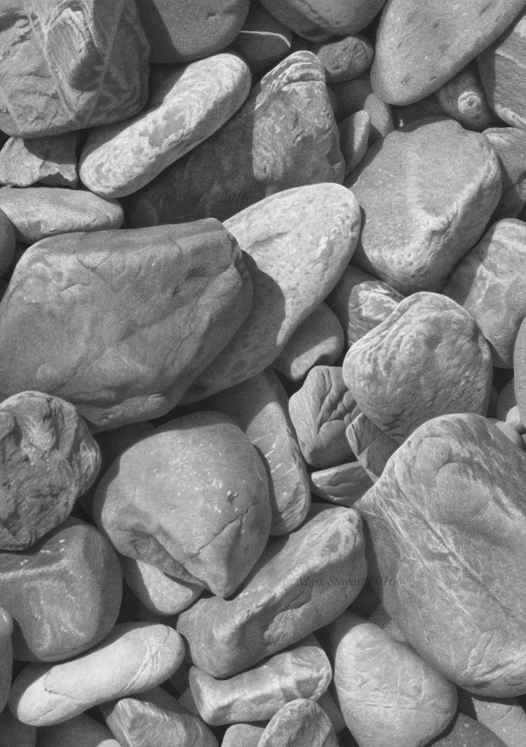 Stones in graphite