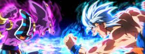 Goku UI Vs Beerus Battle Dragon Ball Super Manga