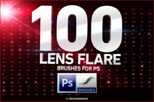 100 Lens Flare Brushes for Photoshop