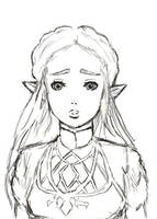 Zelda: Breath of the Wild - Line Art by CutiePieJaycie