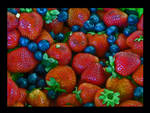 blueberries and redberries
