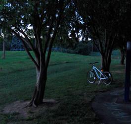White Bike by Ozzirius