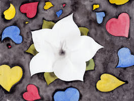 Flower with hearts