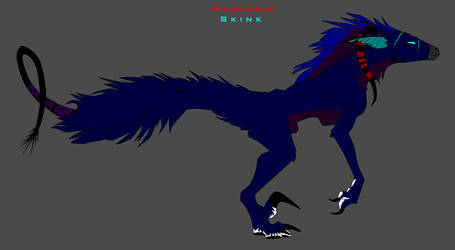 SubAdult Skink by invaderTRIPP666