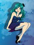 Girl in blue by Innerd