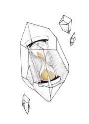 Inktober 2019 (4/31) - Hourglass in crystal quartz