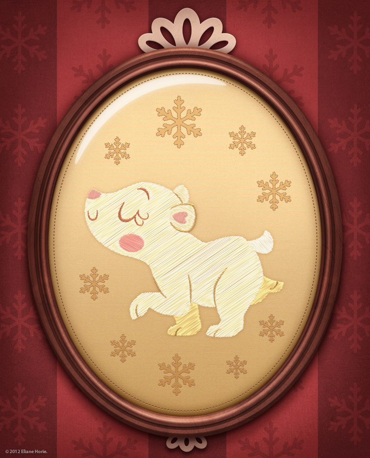 framed march - polar bear by lilibz