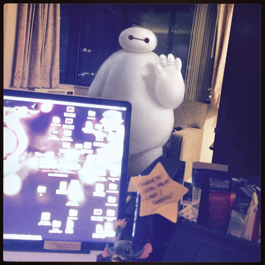 A wild Baymax appears by lilibz