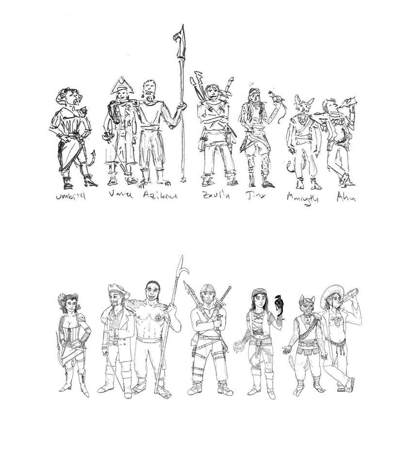 Vengeful Tide crew (comparison) by MVRVS