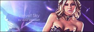 Velvet 'Blue Sky' Signature