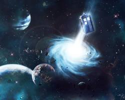 TARDIS in Space Wallpaper by carnagebg