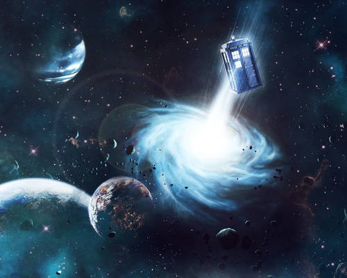 TARDIS in Space Wallpaper