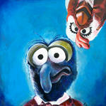 Gonzo and Camilla the Chicken Muppets