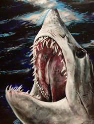 Mako Shark of Dark Waters by ckrickett