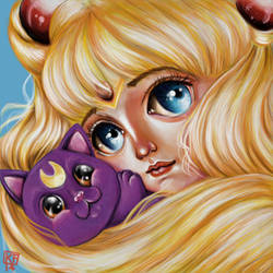 Sailor Moon and Luna by ckrickett