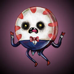 Adventure Time Peppermint Butler as The Dark One by ckrickett