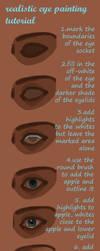 realistic eye painting tutorial by JigokuNeko