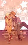 kiss kiss by JigokuNeko