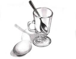 Glass teaspoon egg