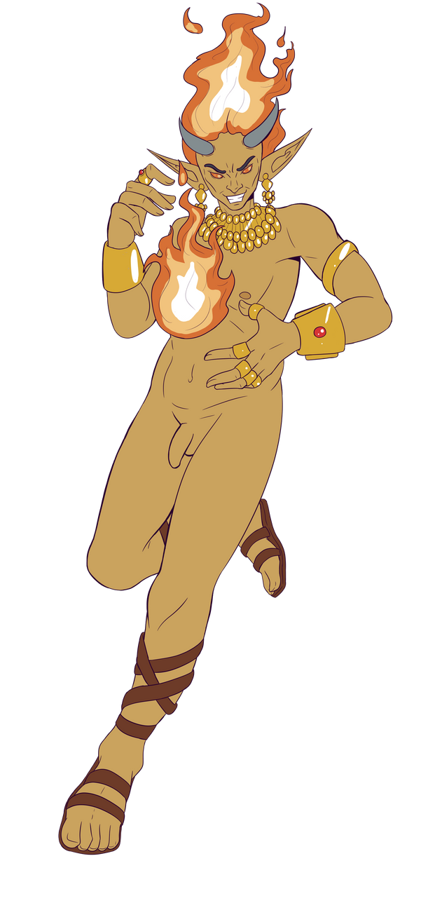 Nime The Ifrit Sorcerer by Shane-Emeraldwing