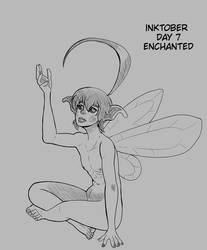 Inktober Day 7 Enchanted