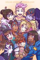 Ladies of Overwatch by SOLAR-CiTRUS