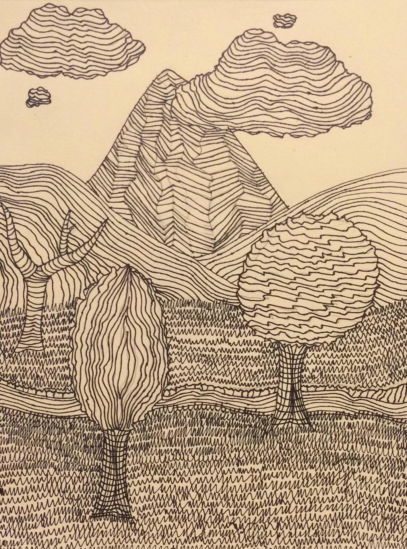 Contour Line Drawing Of A Landscape : Cross contour landscape by kzdev on deviantart