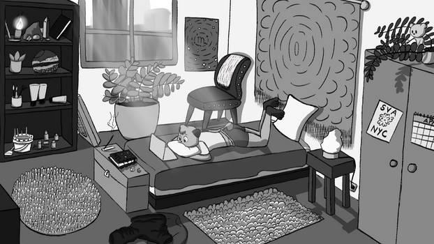 Wren's Room (Grayscale)