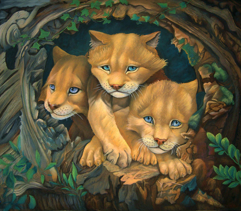 Cougar Cubs by CalciteMink1610