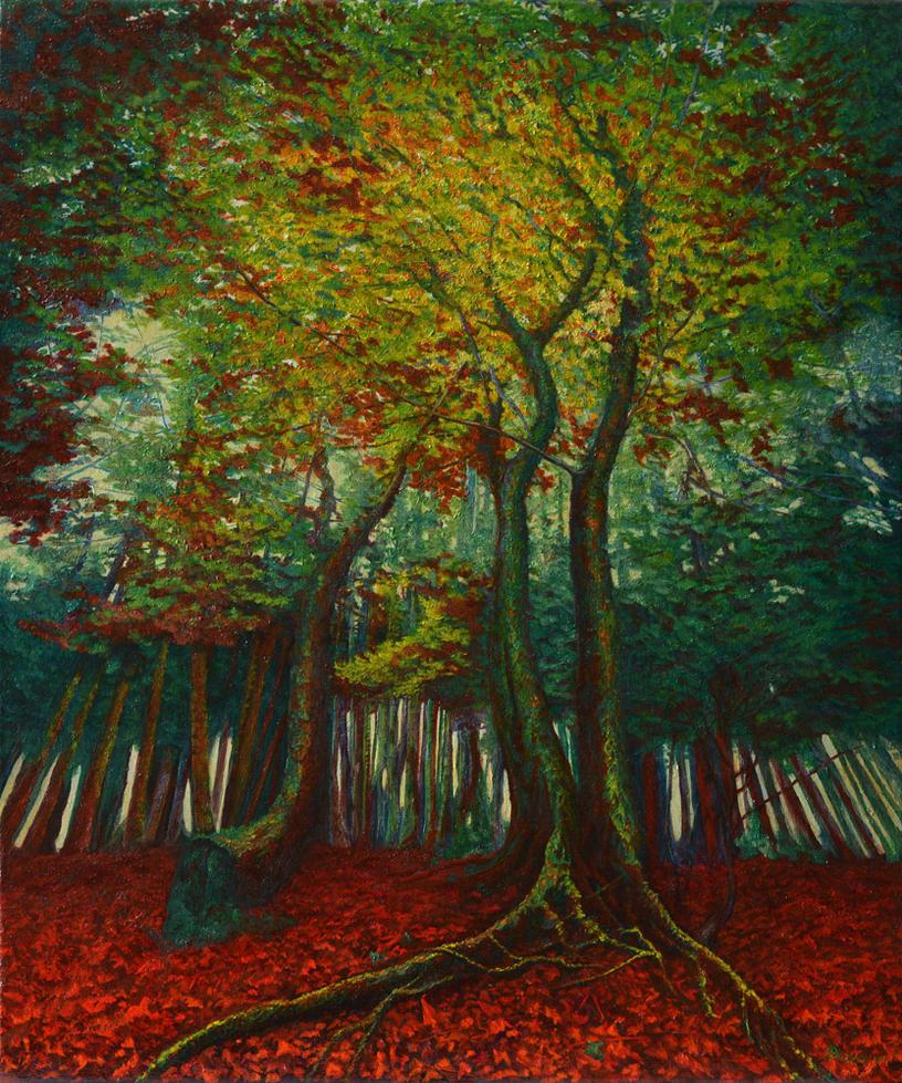 Autumnal glimmering tree by AldemButcher