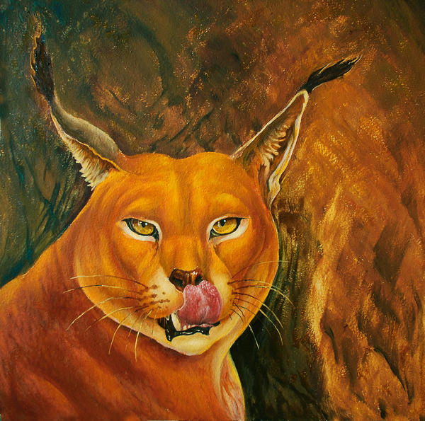 Caracal's portrait by AldemButcher
