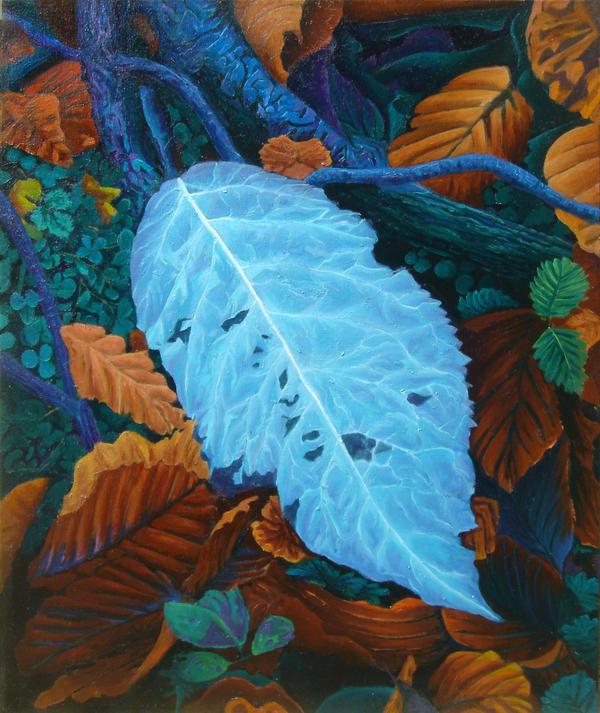 on leaf blue - photo #8