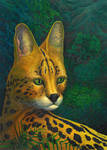 Serval's portrait - ultimate version, oils, 2010 by CalciteMink1610