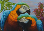 Two Parrots by CalciteMink1610