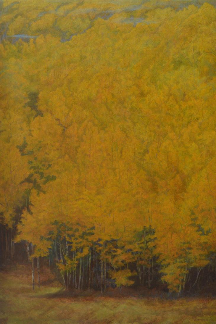 Golden Forest-gobelin by AldemButcher