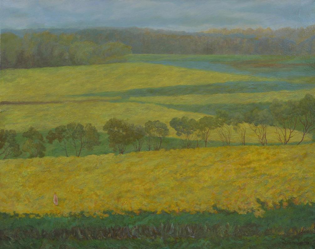 Wind Strolls In The Amber Field by AldemButcher
