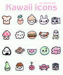 Kawaii icons 50x50 Set 1.